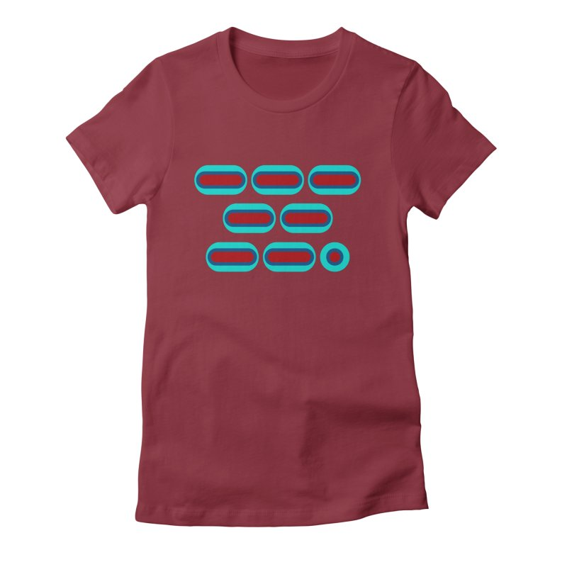 OMG (red/blue) Women's Fitted T-Shirt by Felix Culpa Designs