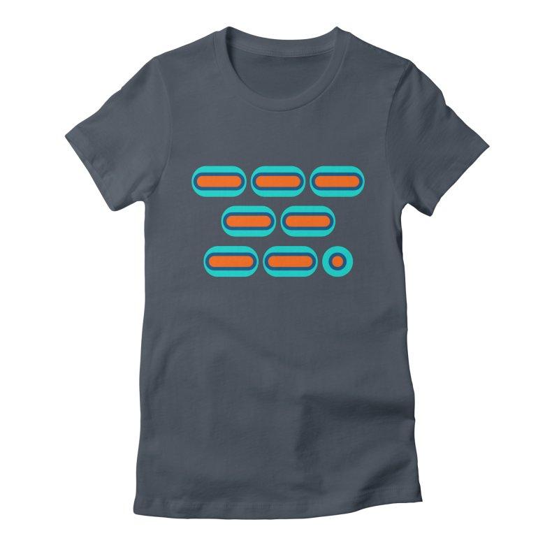 OMG (orange/blue) Women's Fitted T-Shirt by Felix Culpa Designs