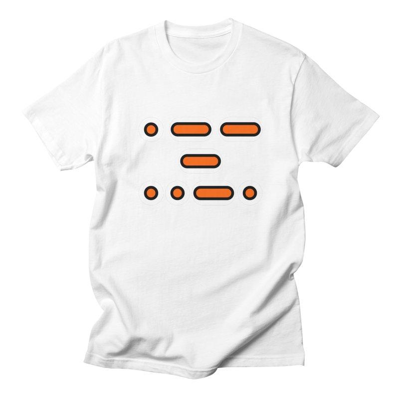 WTF (orange/black/white) Men's Regular T-Shirt by Felix Culpa Designs