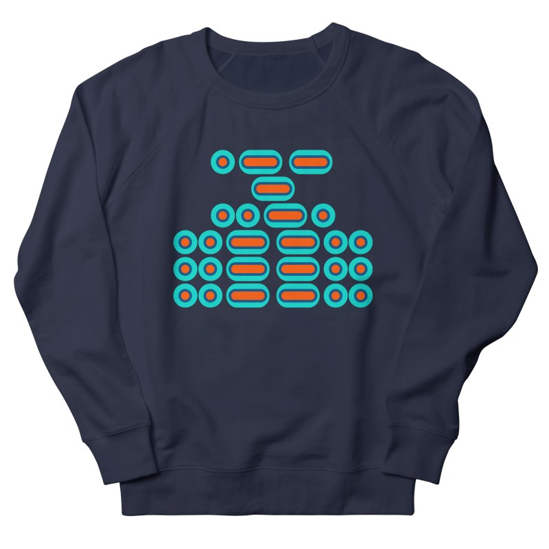WTF??? (orange/blue) Men's French Terry Sweatshirt by Felix Culpa Designs