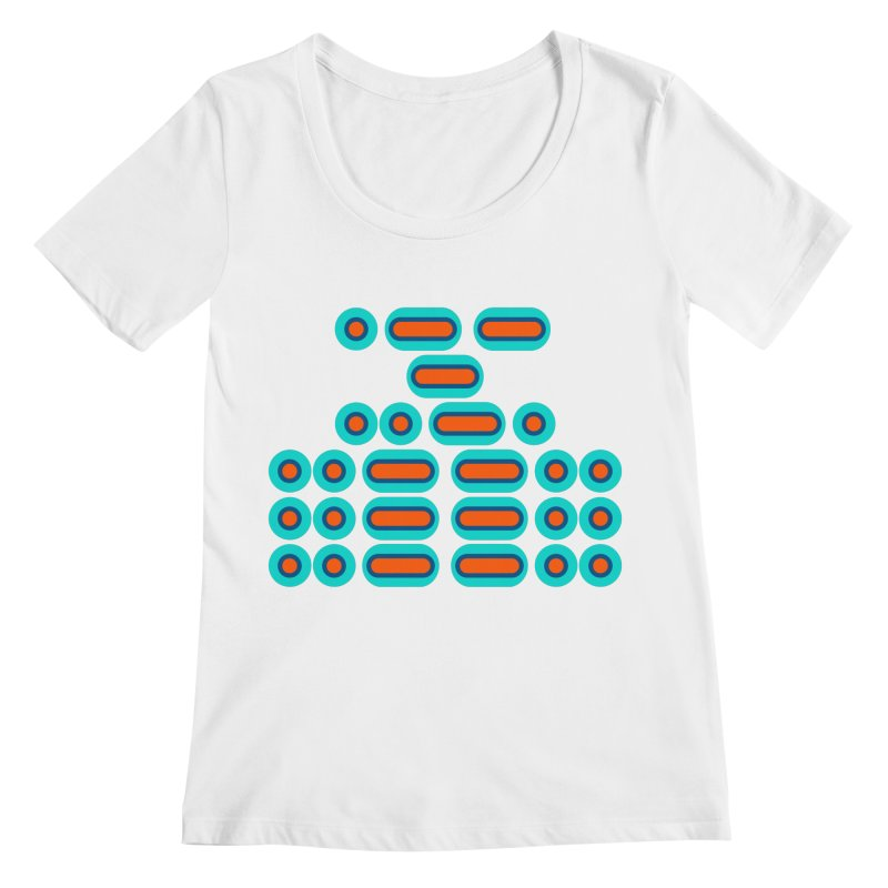WTF??? (orange/blue) Women's Regular Scoop Neck by Felix Culpa Designs