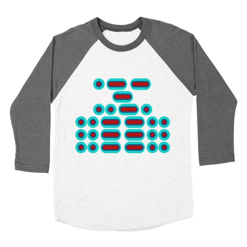 WTF??? (red/blue) Women's Baseball Triblend Longsleeve T-Shirt by Felix Culpa Designs