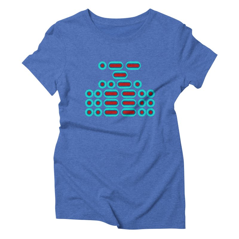 WTF??? (red/blue) Women's Triblend T-Shirt by Felix Culpa Designs