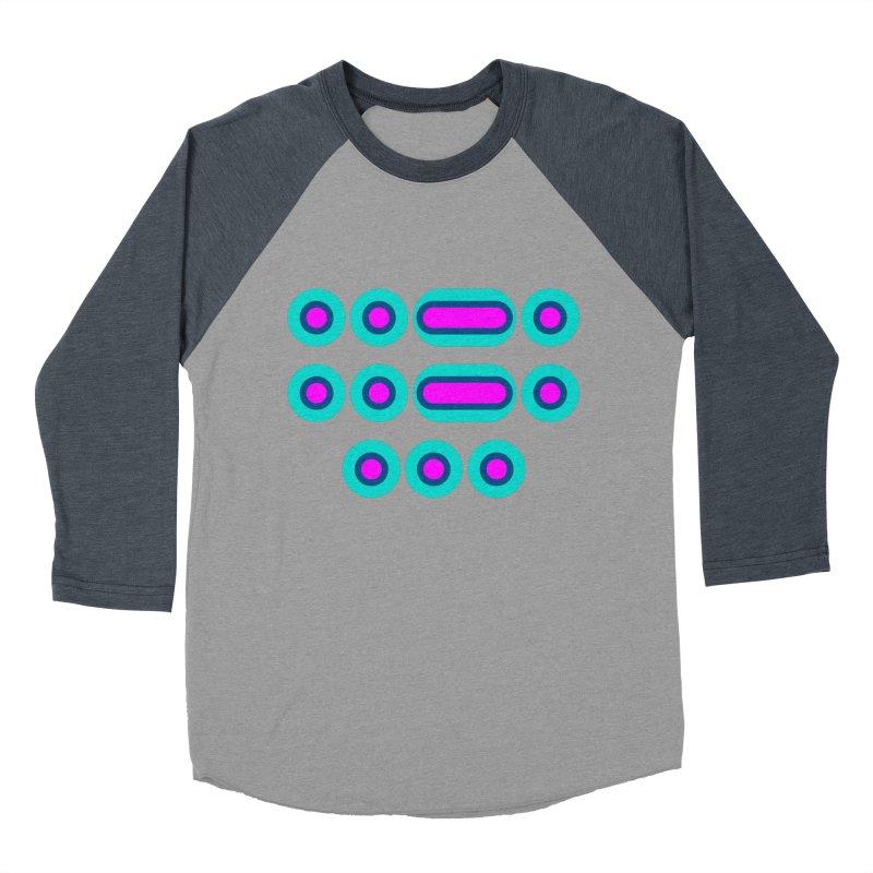 FFS (pink/blue) Men's Baseball Triblend Longsleeve T-Shirt by Felix Culpa Designs