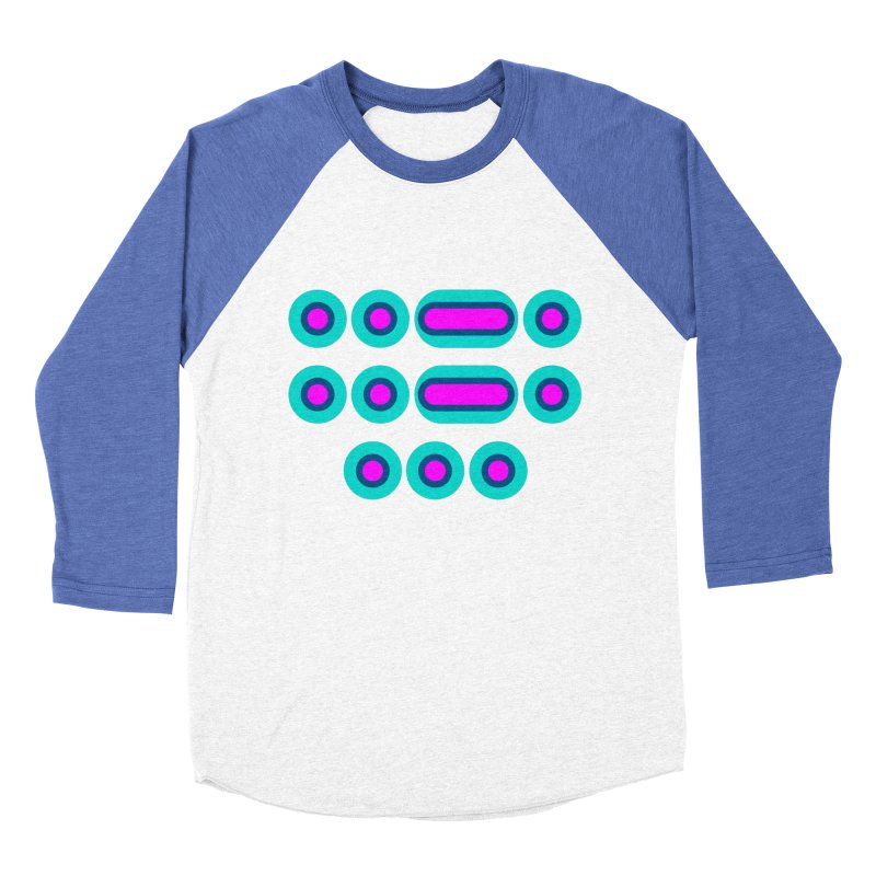 FFS (pink/blue) Men's Baseball Triblend Longsleeve T-Shirt by Felix Culpa Designs