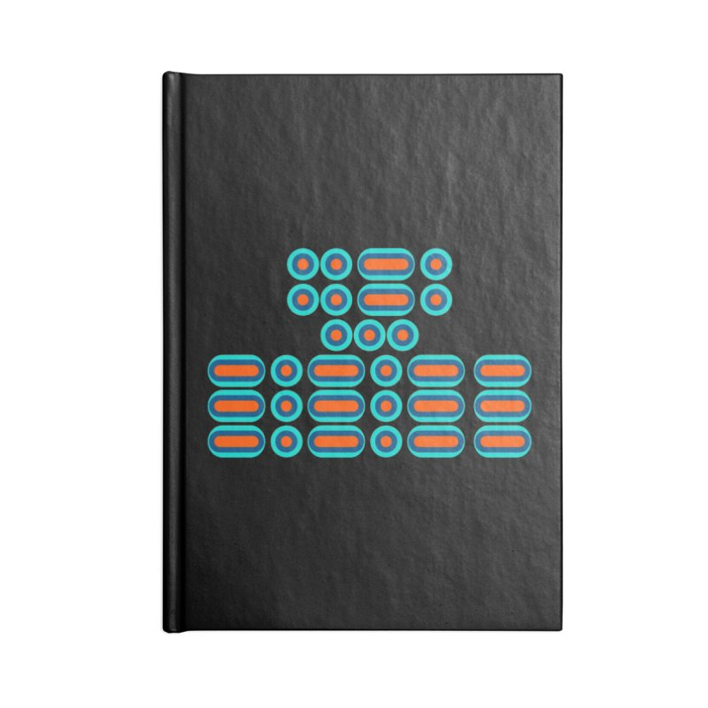 FFS!!! (orange/blue) Accessories Blank Journal Notebook by Felix Culpa Designs