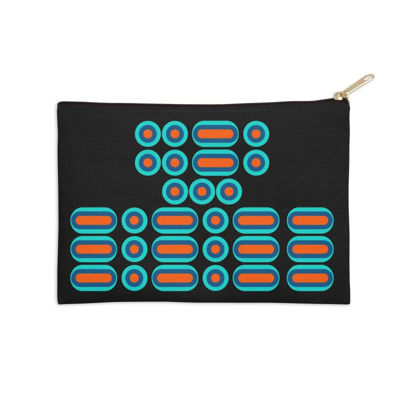 FFS!!! (orange/blue) Accessories Zip Pouch by Felix Culpa Designs