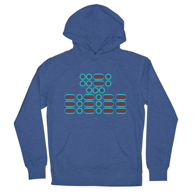 FFS!!! (red/blue) Men's French Terry Pullover Hoody by Felix Culpa Designs