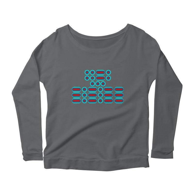 FFS!!! (red/blue) Women's Scoop Neck Longsleeve T-Shirt by Felix Culpa Designs