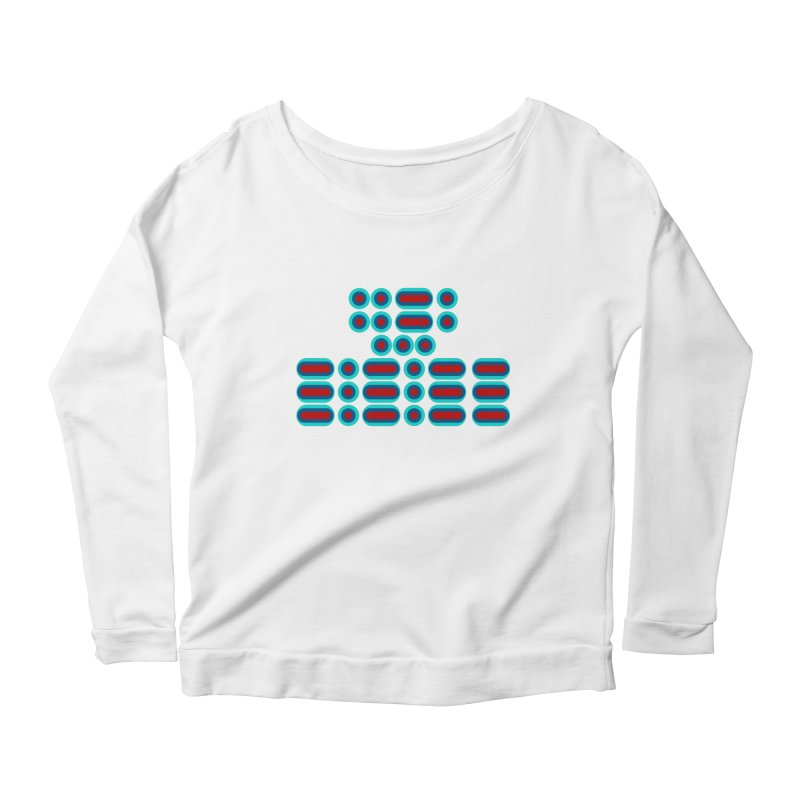 FFS!!! (red/blue) Women's Scoop Neck Longsleeve T-Shirt by Felix Culpa Designs