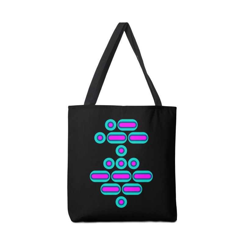 AWESOME (pink/blue) Accessories Bag by Felix Culpa Designs