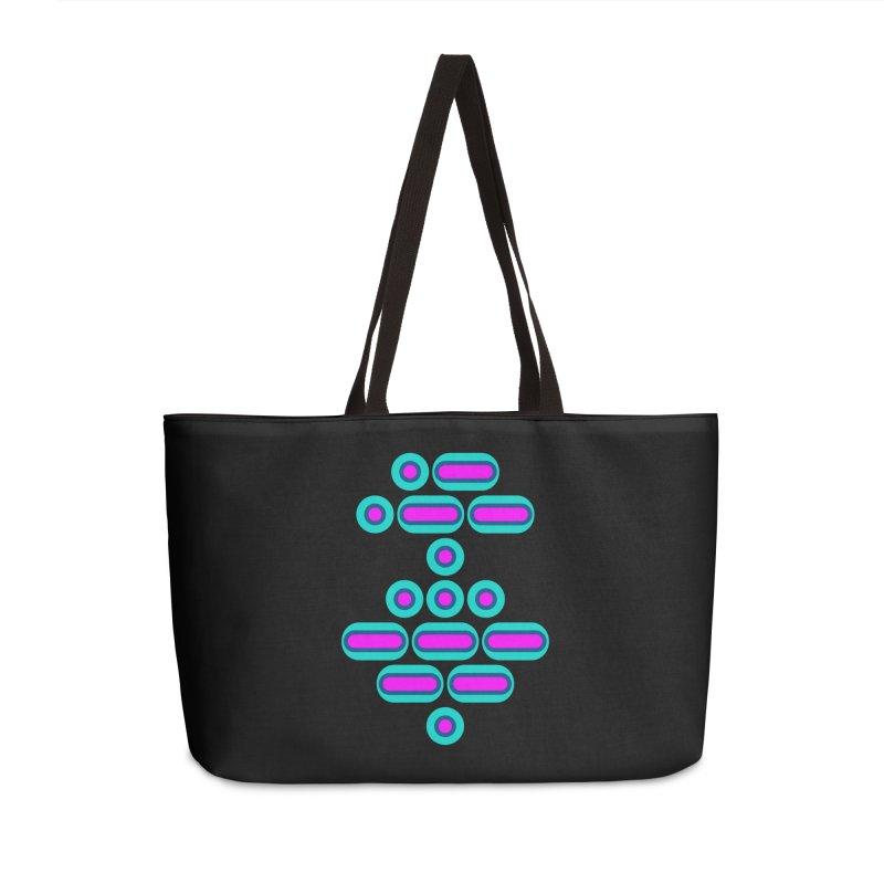 AWESOME (pink/blue) Accessories Weekender Bag Bag by Felix Culpa Designs