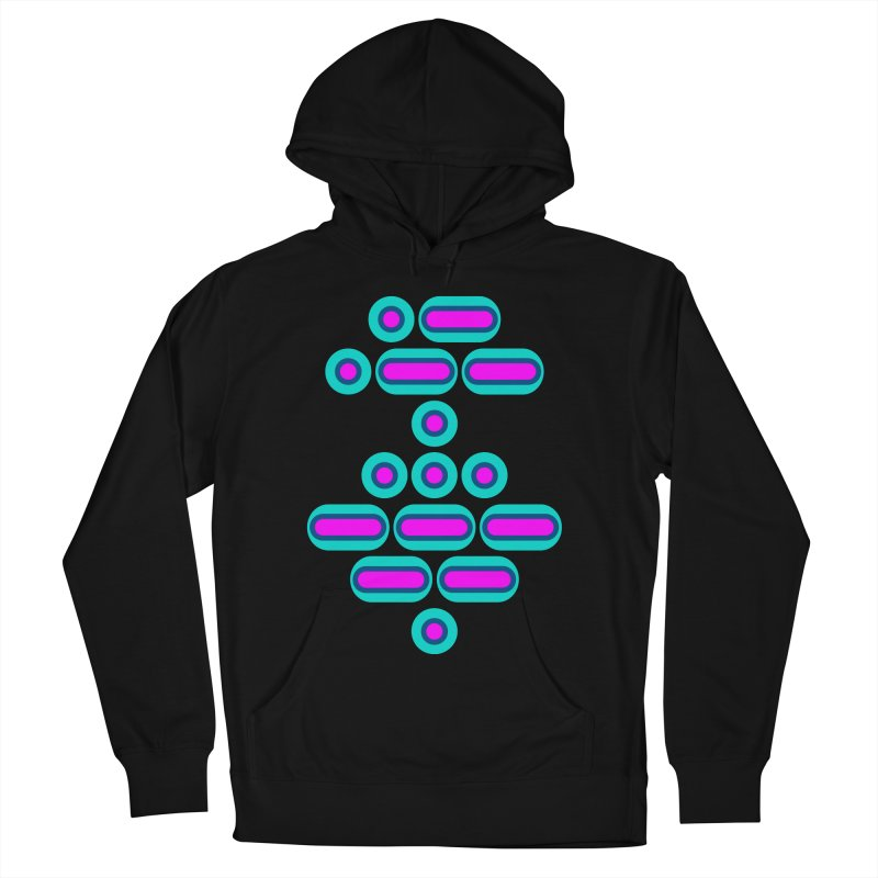 AWESOME (pink/blue) Women's French Terry Pullover Hoody by Felix Culpa Designs