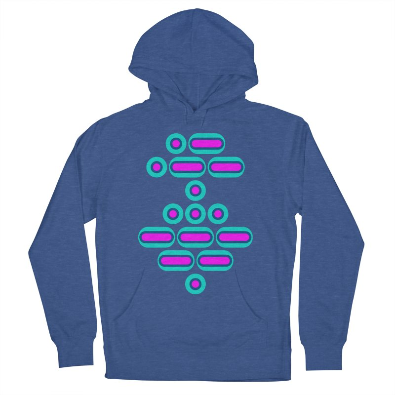 AWESOME (pink/blue) Men's French Terry Pullover Hoody by Felix Culpa Designs