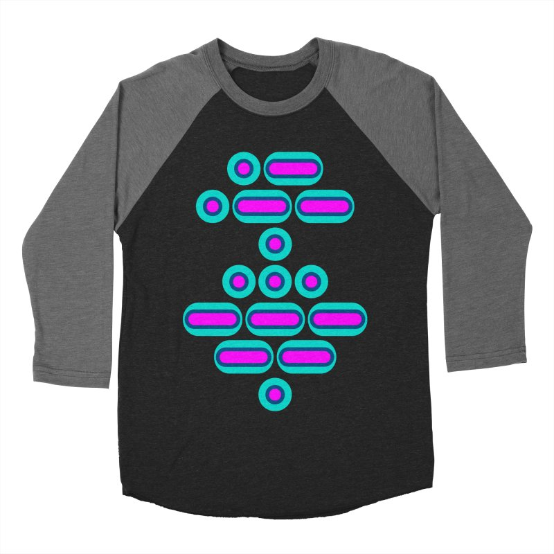 AWESOME (pink/blue) Women's Baseball Triblend Longsleeve T-Shirt by Felix Culpa Designs