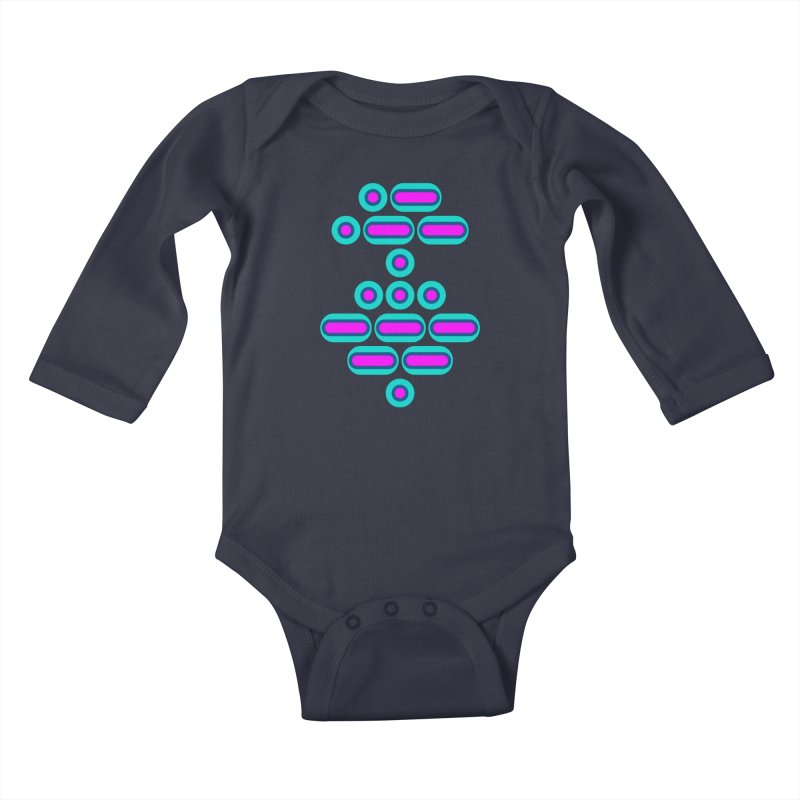 AWESOME (pink/blue) Kids Baby Longsleeve Bodysuit by Felix Culpa Designs