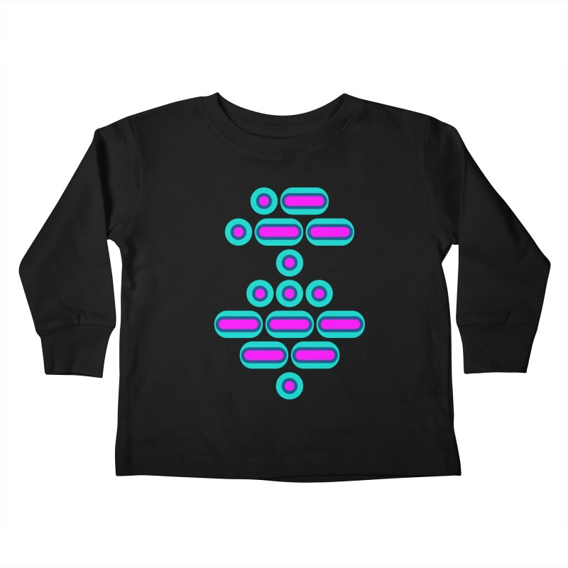 AWESOME (pink/blue) Kids Toddler Longsleeve T-Shirt by Felix Culpa Designs