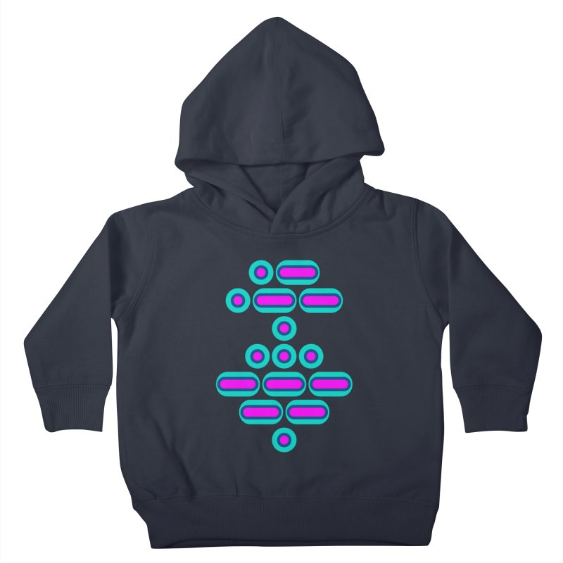 AWESOME (pink/blue) Kids Toddler Pullover Hoody by Felix Culpa Designs