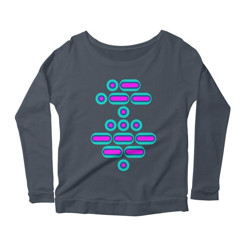 AWESOME (pink/blue) Women's Scoop Neck Longsleeve T-Shirt by Felix Culpa Designs