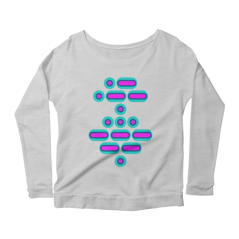 AWESOME (pink/blue) Women's Scoop Neck Longsleeve T-Shirt by Felix Culpa Designs