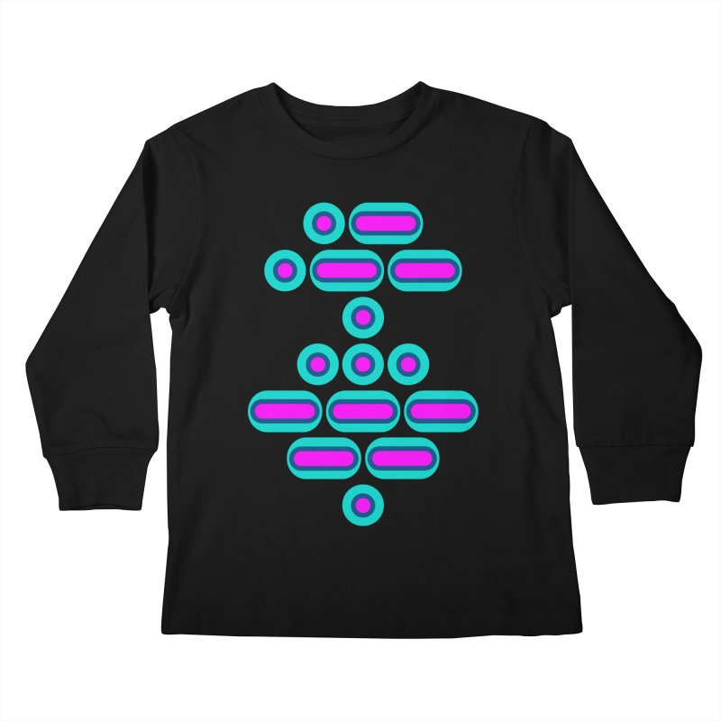 AWESOME (pink/blue) Kids Longsleeve T-Shirt by Felix Culpa Designs