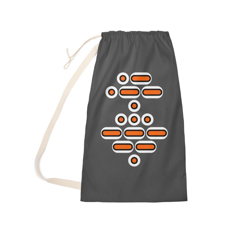AWESOME (orange/black/white) Accessories Laundry Bag Bag by Felix Culpa Designs
