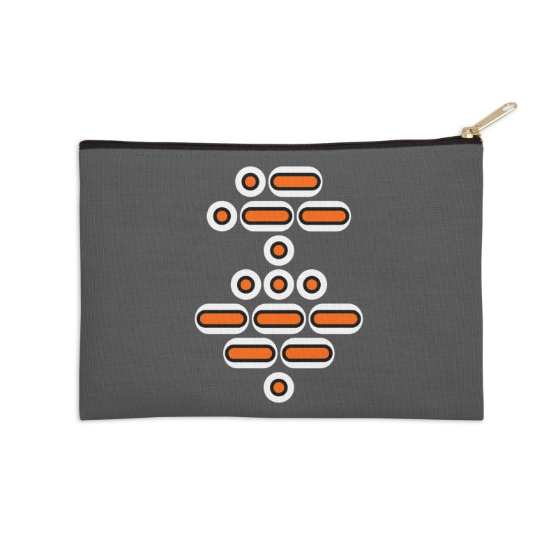 AWESOME (orange/black/white) Accessories Zip Pouch by Felix Culpa Designs