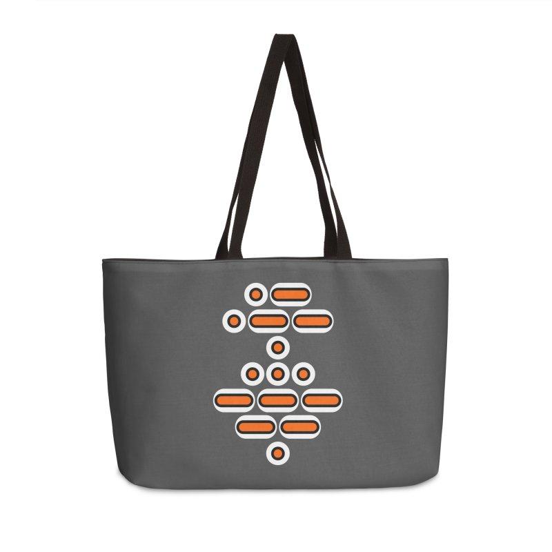 AWESOME (orange/black/white) Accessories Weekender Bag Bag by Felix Culpa Designs
