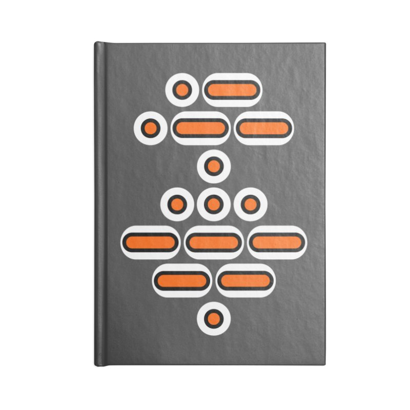 AWESOME (orange/black/white) Accessories Lined Journal Notebook by Felix Culpa Designs
