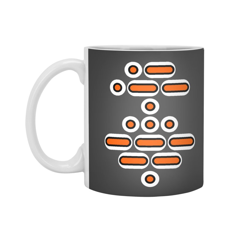 AWESOME (orange/black/white) Accessories Mug by Felix Culpa Designs