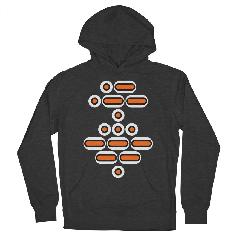 AWESOME (orange/black/white) Men's French Terry Pullover Hoody by Felix Culpa Designs
