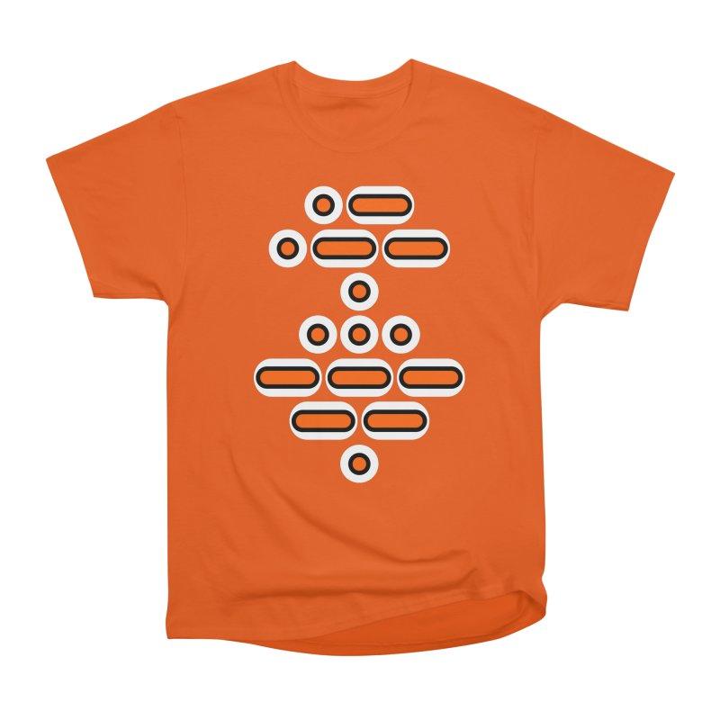AWESOME (orange/black/white) Men's Heavyweight T-Shirt by Felix Culpa Designs