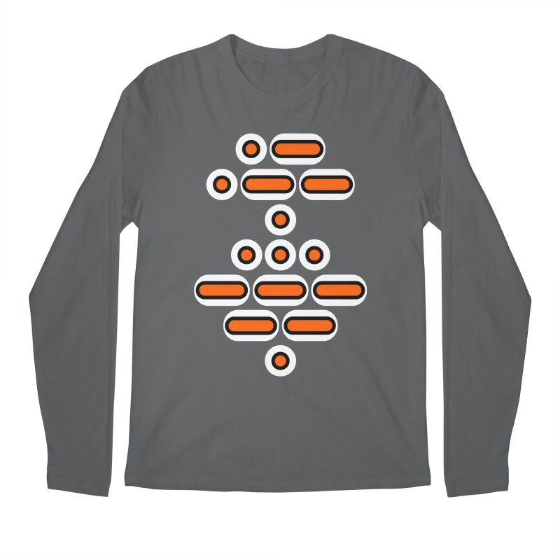 AWESOME (orange/black/white) Men's Regular Longsleeve T-Shirt by Felix Culpa Designs