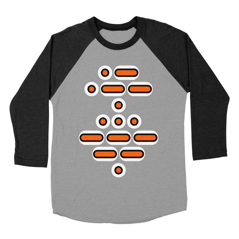 AWESOME (orange/black/white) Women's Baseball Triblend Longsleeve T-Shirt by Felix Culpa Designs
