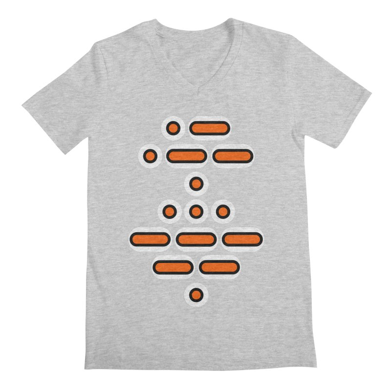 AWESOME (orange/black/white) Men's Regular V-Neck by Felix Culpa Designs