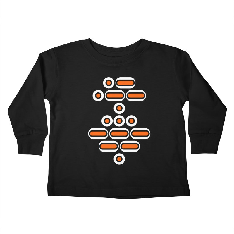 AWESOME (orange/black/white) Kids Toddler Longsleeve T-Shirt by Felix Culpa Designs