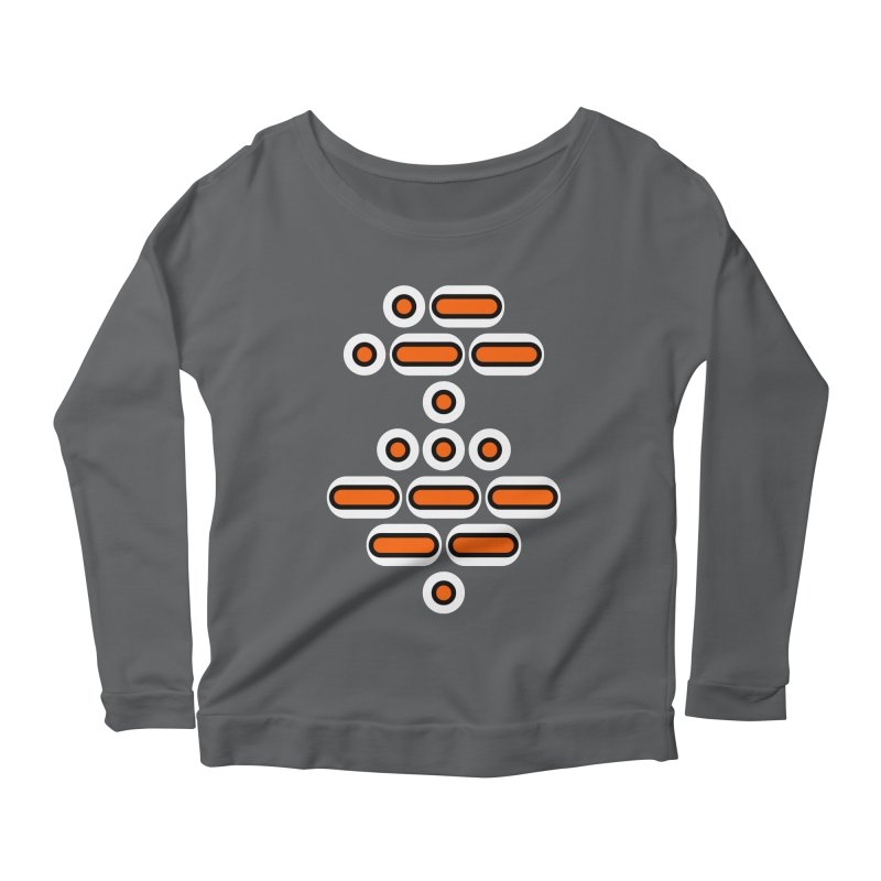 AWESOME (orange/black/white) Women's Scoop Neck Longsleeve T-Shirt by Felix Culpa Designs