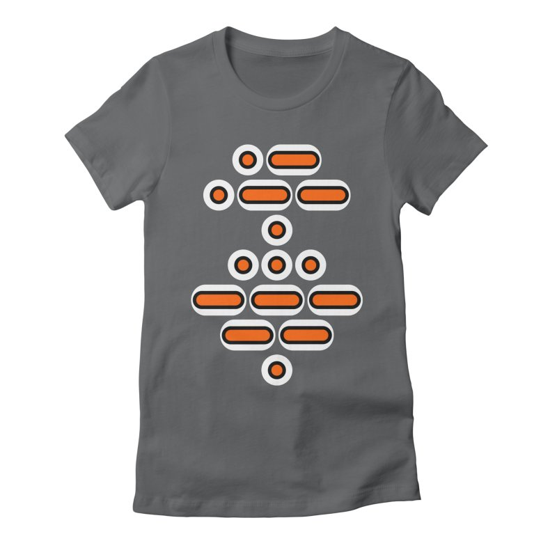 AWESOME (orange/black/white) Women's Fitted T-Shirt by Felix Culpa Designs