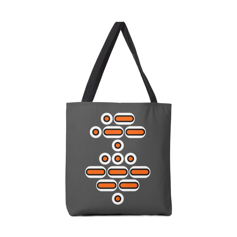 AWESOME (orange/black/white) Accessories Tote Bag Bag by Felix Culpa Designs
