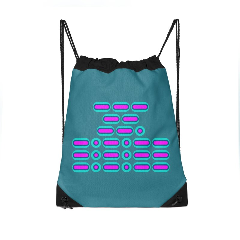 OMG!!! (pink/blue) Accessories Drawstring Bag Bag by Felix Culpa Designs