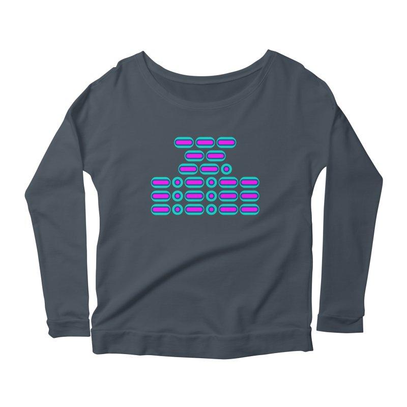 OMG!!! (pink/blue) Women's Scoop Neck Longsleeve T-Shirt by Felix Culpa Designs