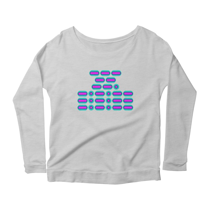 OMG!!! (pink/blue) Women's Scoop Neck Longsleeve T-Shirt by Felix Culpa Designs