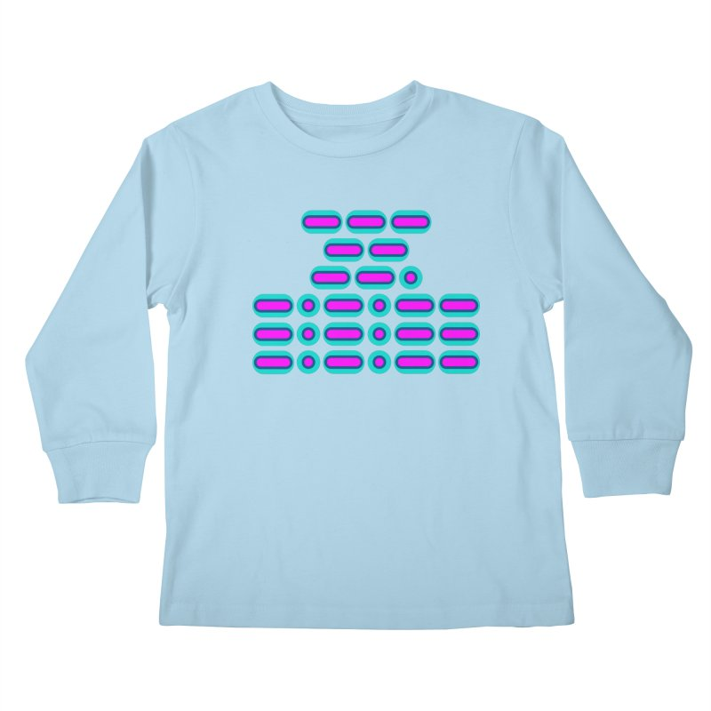 OMG!!! (pink/blue) Kids Longsleeve T-Shirt by Felix Culpa Designs