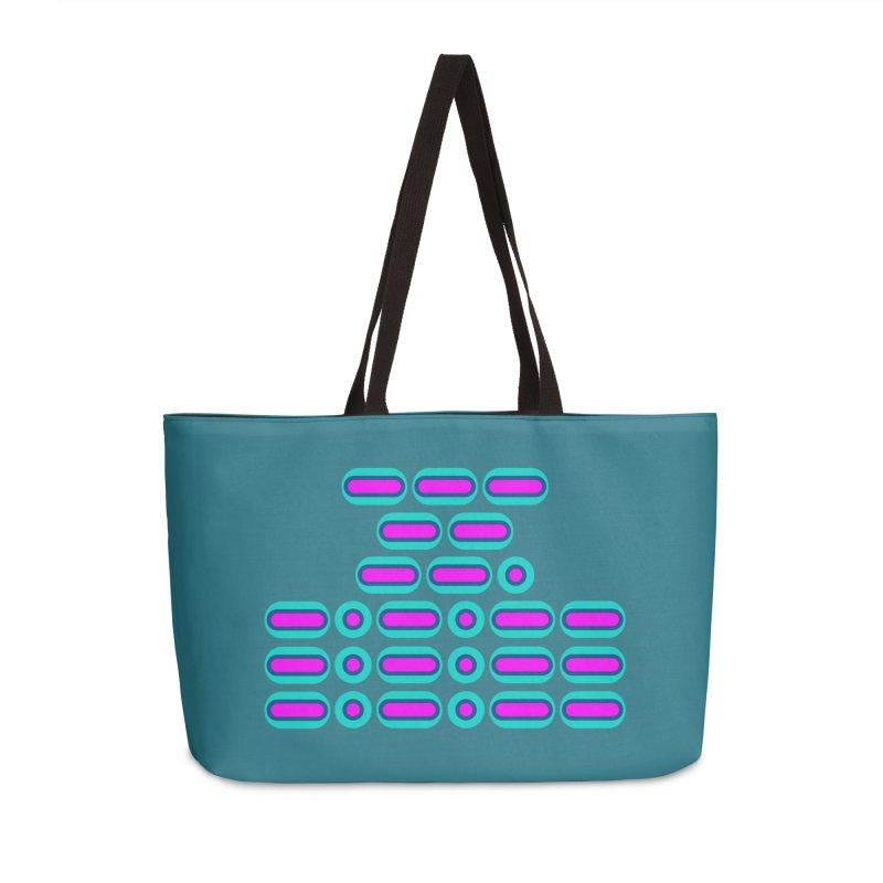 OMG!!! (pink/blue) Accessories Weekender Bag Bag by Felix Culpa Designs