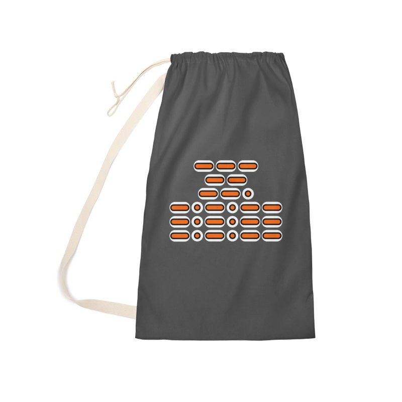 OMG!!! (orange/black/white) Accessories Laundry Bag Bag by Felix Culpa Designs