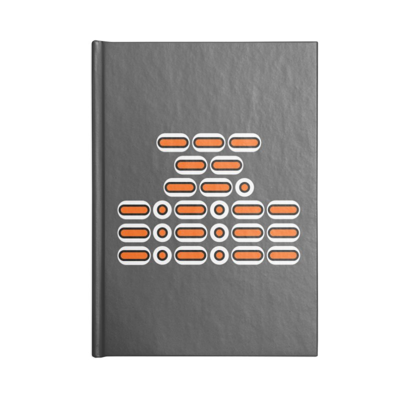 OMG!!! (orange/black/white) Accessories Lined Journal Notebook by Felix Culpa Designs