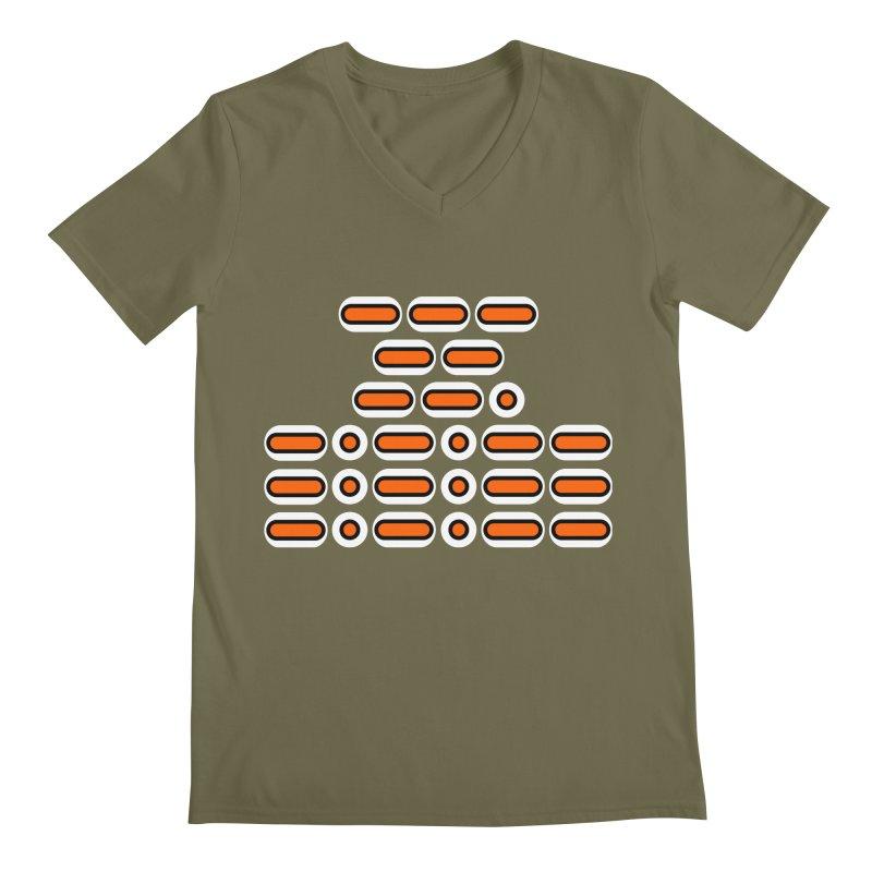 OMG!!! (orange/black/white) Men's Regular V-Neck by Felix Culpa Designs