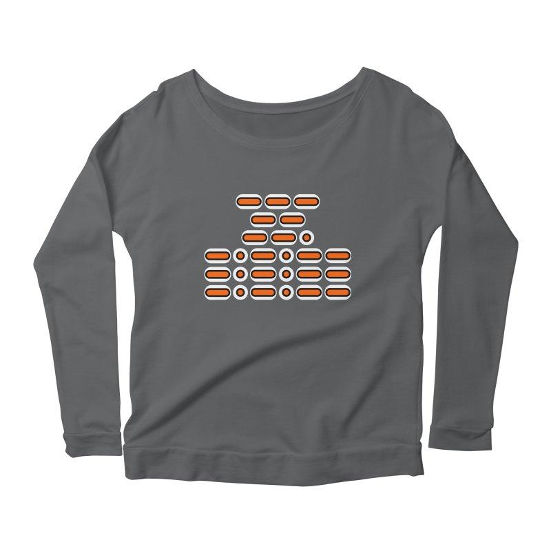 OMG!!! (orange/black/white) Women's Scoop Neck Longsleeve T-Shirt by Felix Culpa Designs