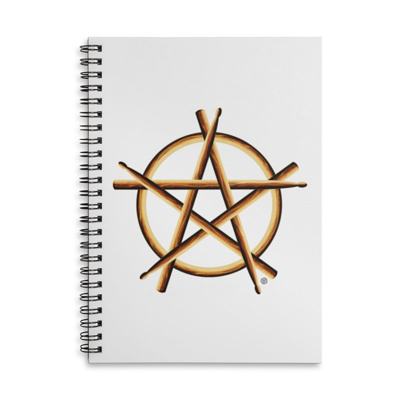 PAGAN DRUMMER Accessories Lined Spiral Notebook by Felix Culpa Designs