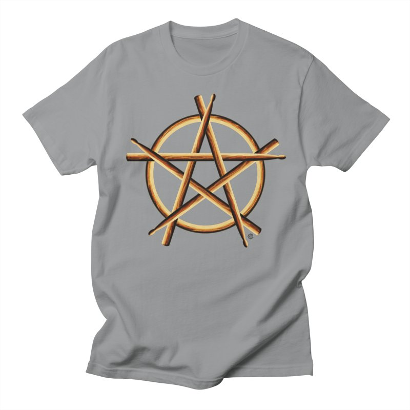 PAGAN DRUMMER in Men's Regular T-Shirt Slate by Felix Culpa Designs